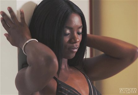 Gorgeous black mistress Ana Foxxx bends over for a dick