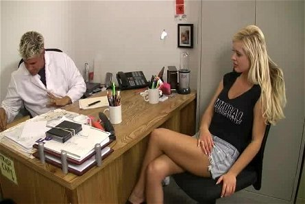 Andi Anderson opens her legs for a randy doctor's prick