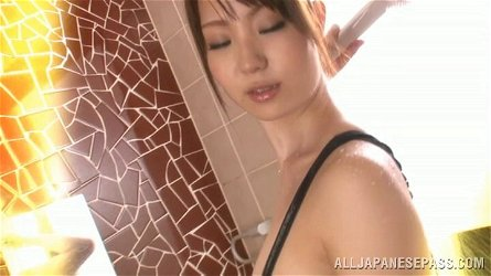 Yuuka Tachibana gets messy in the shower with some ice cream