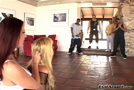 Anita Blue And Sophie Dee In A Hardcore Interracial Group Sex