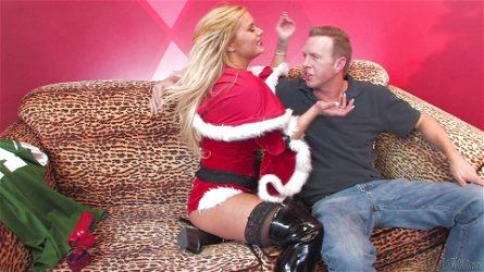 Shyla Stylez gives hand to Mark Wood and jumps on his weiner