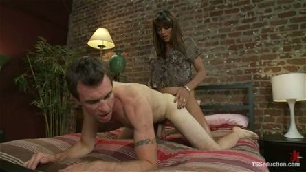 Dietrich Cyrus lets sexy shemale Yasmin Lee rip his ass apart