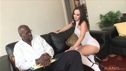 White chick Jada Stevens hooks up with one hot blooded black guy
