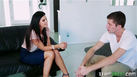 Hot blooded step mommy India Summer seduces her stepson and his GF Arielle Faye