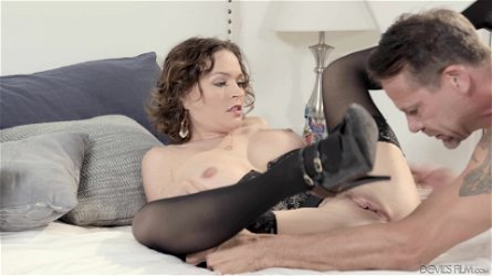 Krissy Lynn cannot resist a mature lover's massive dong