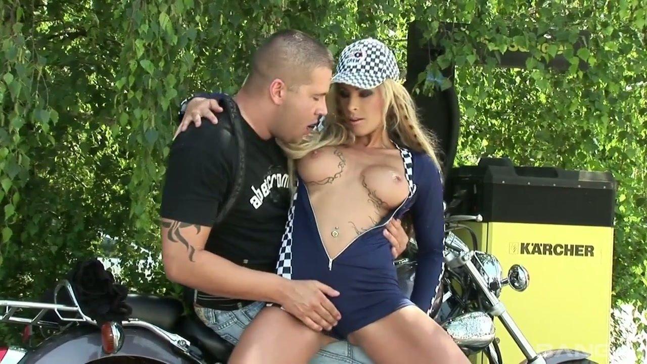 Hot Blonde Biker Girls Naked