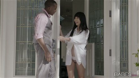 Petite Asian babe Marica Hase is fucked by hot tempered BBC