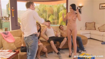Avril Hall and Ashli Ames have a great time during an orgy