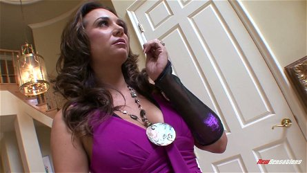 Fucking hot seductress with big jugs Holly West sucks and rides hard penis