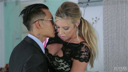 Oversexed milfs Samantha Saint and Asa Akira are fucked by one horny guy