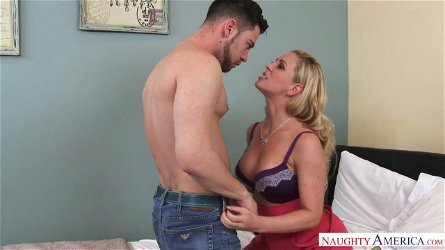 Skilled milf Cherie Deville rides dick and takes dick between her plump butt cheeks