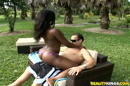 Beach Fun Ends with Interracial Sex for Armany Cash's Wet Ebony Snatch