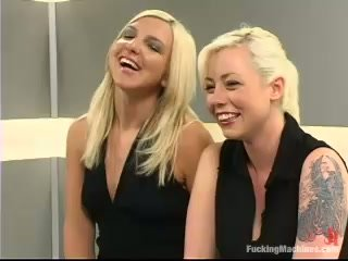 Jolene and Lorelei Lee get their holes fucked by a fucking machine