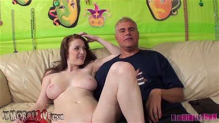 New girl Chloe Taylor gets titty fucked before gets a huge facial.