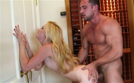 Slutty wench Samantha Rone takes Johnny Castle's cock from behind