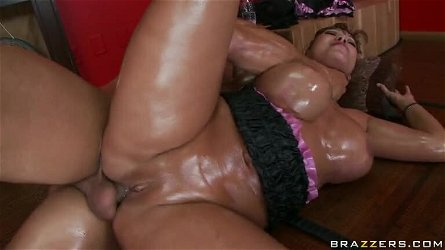 Busty Asian MILF Ava Devine Gets Her Oiled Up Ass Fucked