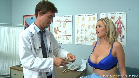 Blonde Katie Kox and Her Humongous Breasts Fucked By The Doctor