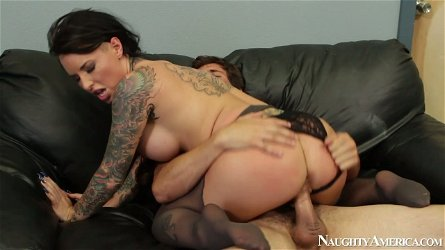 Torrid black head with big boobs Christy Mack desires to ride a hot strong dick