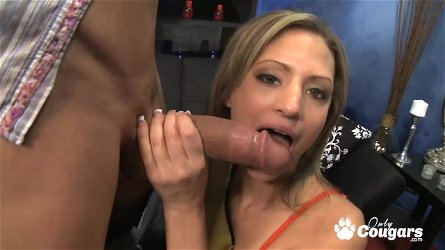 Blonde tiny tits Cheyenne Cooper cowriding on huge cock and gets cumshot on her tits