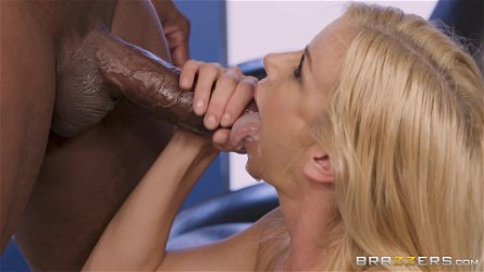 Black man is in need of brunette babe Alexis Fawx's cunt