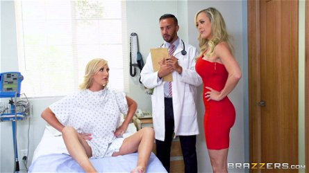 Brandi Love and Brett Rossi ride a fortunate man's cock
