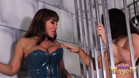 Ava Devine and Brandi Mae enjoy riding a massive dildo