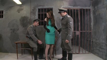 Misha Cross fuck with two military guys