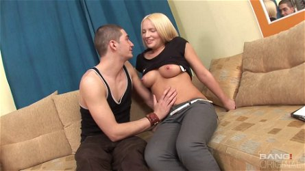 Blonde cutie Britney Spring enjoys having her asshole wrecked