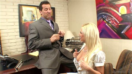 Angelina Ash gets nailed in the office table hardcore