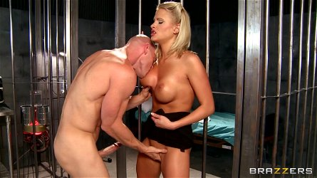 Blonde doctor babe Jessica Nyx fucked in prison hospital