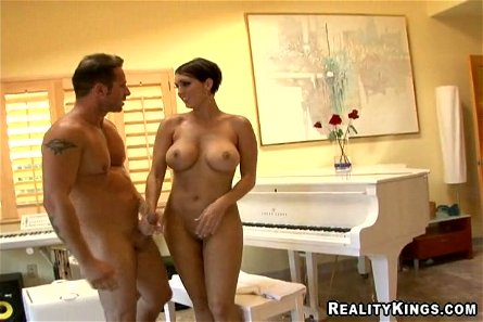 Curvy brunette Dylan Ryder gets stunningly fucked from behind