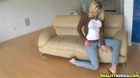 Glorious Margo Russo Wearing High Heels Masturbates In Front Of His Boy