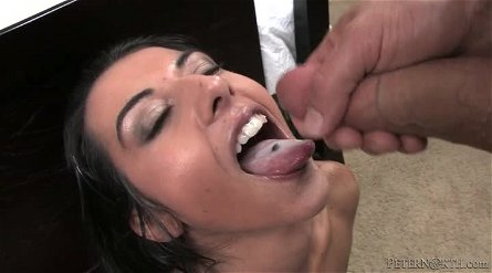 Slutty Lou Charmelle gives great blowjob in POV video