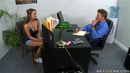 Busty Carmen McCarthy Titty Fucking In The Office For a Job
