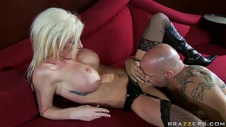 Exquisite Blonde Slut Nadia Hilton Gets Fucked In Sexy Latex Lingerie