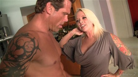 Rough sex with the horny big titty blonde Angel Vain