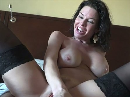 Delicious raven haired MILF in hot stockings Veronica Avluv sucks big dick of her man after hard anal penetration