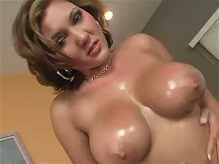 Boobalicious fair haired mommy Claire Dames sucks her lover off after nice solo