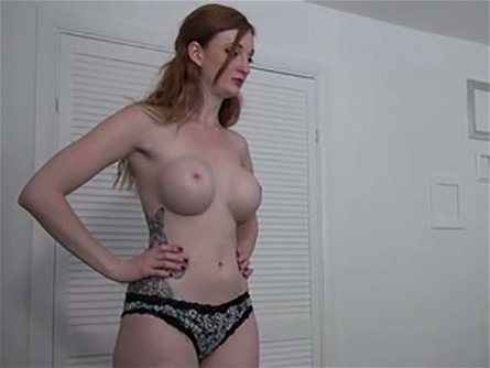 Leggy ginger hoe with big fake melons Zara Du Rose sucks her brutal buddy off