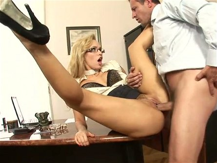 Beautiful babe Aleska Diamond is an office slut where she works