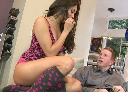 Divine brunette babe Gia Steel gets drilled hard by Mark Wood