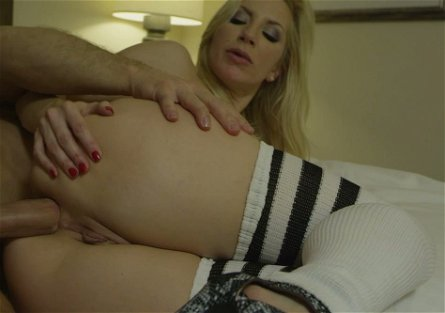 Desirable blonde bitch Ashley Fires enjoys fantastic anal