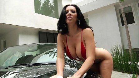 jayden jaymes puts on a show washing the car