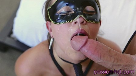 Lily Love likes to wear a mask when she rides a delicious dick