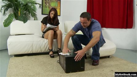 Mischa Brooks, gets down for some deep dicking with a sizable cock