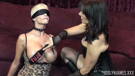 BDSM action with Joslyn James who is quite a sexy slave