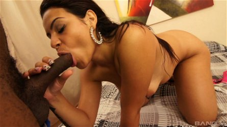 Busty Latina babe Mona Lisa gets a cumshot on her round ass