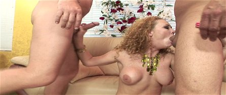 Audrey Hollander Is Taking Two Cocks In - audrey hollander