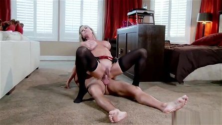 Unbelievable busty maried woman Brandi Love performing in a hot femdom porn video