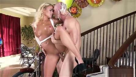 Delightful blond youthful slut Alexis Monroe in wild hardcore drilling